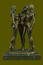 Three nude bronze Naked Girl statuettes statues Figurines by Mavchi