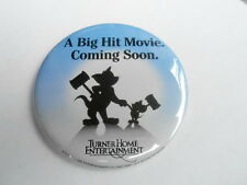 "VINTAGE 3 1/2"" PINBACK BUTTON #59- 080 - TOM AND JERRY movie - TURNER ENT."