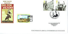 GB 2010 Dig for Victory stamps x 2 on Nene Valley Railway FDC