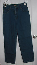 Cabela's Lined Insulated Blue Jeans Size 8 Regular 100% Cotton Tapered