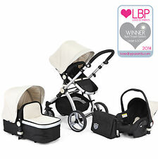 AWARD WINNING BLACK & WHITE CARRERA SPORT 3in1 Baby Travel System/Pushchair/Pram