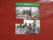 Assassin's Creed IV Black Flag & Assassin's Creed Unity - Xbox One download card