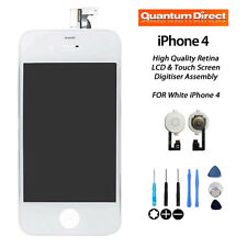 **NEW** Retina LCD and Digitiser Assembly Repair + FREE Tools FOR iPhone 4 WHITE