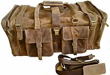 28 Inch Real Leather Vintage Travel Bag WEEKENDER XL MENS duffle LUGGAGE SPORTS