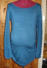 BNWT MATERNITY Dark Teal Long Sleeved Ruched Detail Top Size  16