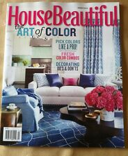House Beautiful March 2014 FREE SHIPPING, The Art Of Color, See Pics For Details