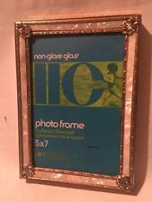 Vintage Mother-of-Pearl Metal Ornate Photo PICTURE FRAME Antique Style Wedding