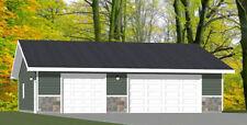 40x42 3-Car Garage -- 1,680 sq ft -- PDF Floor Plan -- Model 1B