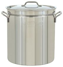 Bayou Classic 24-Qt. Steam-Boil-Fry Stockpot with Lid Stainless Steel 1024 NEW