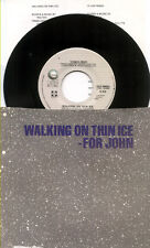 BEATLES Re YOKO ONO 1981 Walking On Thin Ice 45 & PS PICTURE SLEEVE Lyric Sheet