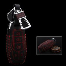 High Quality leather Smart Remote Key Case Cover Holder For Ford mustang 2015