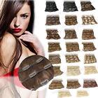 Remy 100% Echthaar Haarverlängerung Clip In Extensions 45 cm Haar SET 7 Tressen