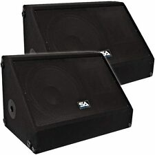 "Seismic Audio Pair 12"" Floor/Stage Monitors/Speakers ~ New 500 Watts"