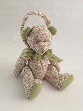 "BOYDS HOME pink purple green QUILTED POTPOURRI DOOR KNOB TEDDY BEAR 12"" plush"