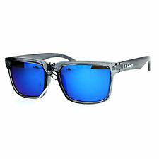 Kush Mens Color Mirrored Sport Horn Rim Slate Frame Agent Sunglasses