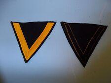 b4568 WW2 German Navy Gefreiter Yellow/Gold Tress on Blue/Black Wool Backing