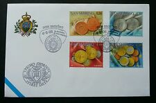 San Marino Coins 2005 Currency Money (stamp FDC)