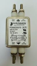 new CURTIS INDUSTRIES FD00DD075 EMI POWER LINE FILTER MODULE 75A DC 80V