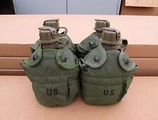 US MILITARY 1 QUART CANTEENS & OLIVE DRAB COVERS [Qty/4] ~GENTLY~USED~