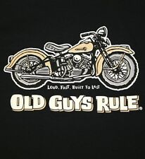 "OLD GUYS RULE "" PANHEAD "" W/ POCKET LOUD FAST AND BUILT TO LAST S/S SIZE XL"