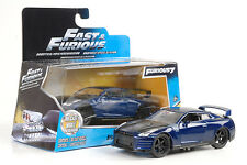 Brian's Nissan GT-R (R35) Movie Fast and & Furious blue 1:32 jada