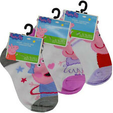 3 PAIR PEPPA PIG Kids Children girls Ankle Socks Size 4-6 Shoe Size 7-10 Apparel