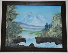 "LANDSCAPE OIL CANVAS PAINTING SIGNED GEO DEPONTES 16"" X 20"" / 19' x 23"" framed"