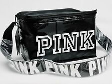 Victoria's Secret PINK Zip-Up BLACK Cooler Palm Tree Design Lunch Box Bag Logo