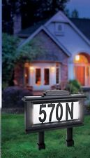 Solar Illuminated Lighted House Number Address Plaque Outdoor LED Light Sign