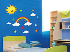 Nube de arco iris Sun Star Pegatinas De Pared Niño Niños Guardería Wall Decals 224