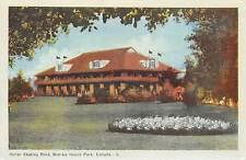 BOBLO ISLAND Canada Amherstburg souvenir postcard Roller Skating rink BLUE TINT