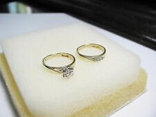 ENGAGEMENT/WEDDING DIAMOND RING SET BY HILLMAN JEWELERS, ESTATE, ORIGINAL BOX!