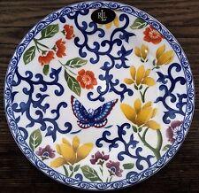 """NEW! Ralph Lauren 4  Dessert/Salad Plates Mandarin Oriental Blue Butterfly 9"""""""