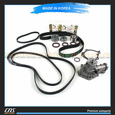 99-06 Fits Hyundai Santa Fe Sonata Kia 2.4L Timing Belt V-Belt Water Pump Kit
