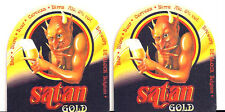 Biere de SATAN GOLD  2x Sous Bock Beer Coaster Mats Bierdeckel