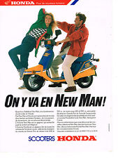 PUBLICITE ADVERTISING  1987   HONDA   scooter NEW MAN