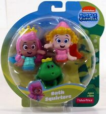 Fisher-Price Nickelodeon Bubble Guppies MOLLY DEEMA FROG Bath Squirters NEW
