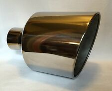 "CHEVY DURAMAX POLISHED STAINLESS WELD ON DIESEL EXHAUST TIP 4"" IN 12"" OUT 18"" L"