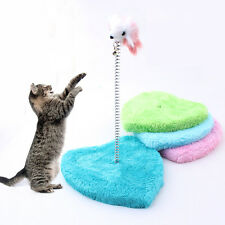CAT SCRATCH POLE KITTY KITTEN SPIRAL SWAY PLAY ACTIVITY TEASER TOY POST MOUSE 00