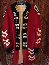 British Army Officer's Red Coat Tunic Colonial War for Independence