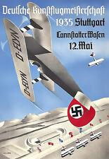 Art Ad Deutsche Kunstflugmaisterschaft  1935 Airplane plane Deco  Poster Print