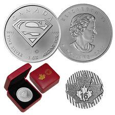 2016 Canada 1 oz Silver $5 SUPERMAN™ SHIELD BU