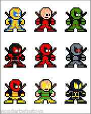 "8-BIT DEADPOOL THROUGH THE AGES Vinyl Sticker Marvel Megaman Style 4"" x 3"""