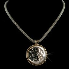 NEW SWEET ROMANCE MESH CHAIN CELESTIAL CRESCENT MOON NECKLACE