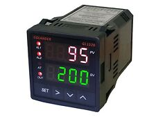 12V DC Digital PID F/C Temperature Controller with 2 Alarm Relays, 1/16 DIN