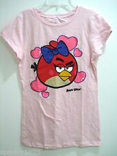 ANGRY BIRDS GLITTER GIRLS T-SHIRT Size Large (12-14) NEW