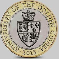 2013 £2 ANNIVERSARY OF GOLDEN GUINEA TWO POUND COIN HUNT 27/32 RARE BI-METAL 2 @