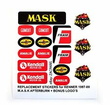 MASK stickers for KENNER M.A.S.K AFTERBURN Personalized + BONUS