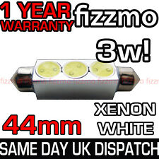 44MM INTERIOR LIGHT FESTOON BULB HIGH POWER 3w SMD LED XENON WHITE SUPER BRIGHT