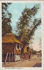 Philippines Manila - Country Houses and Bamboo 1927 used postcard